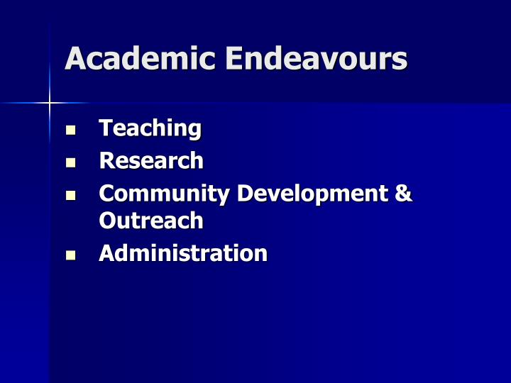 Academic Endeavours