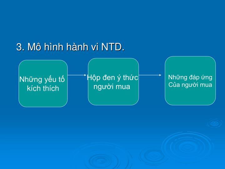 3. Mô hình hành vi NTD.