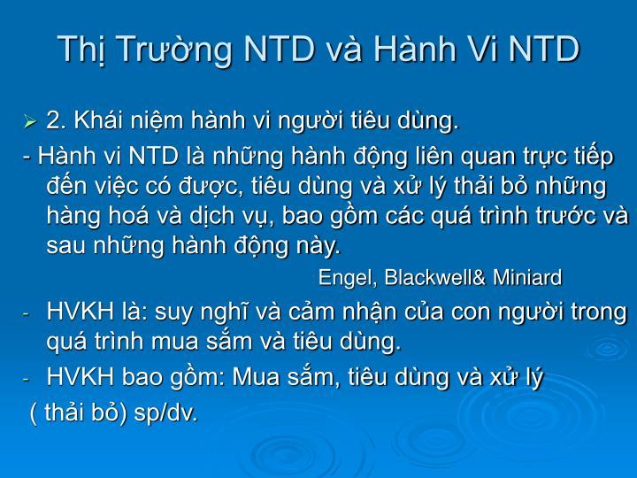 Thị Trường NTD và Hành Vi NTD
