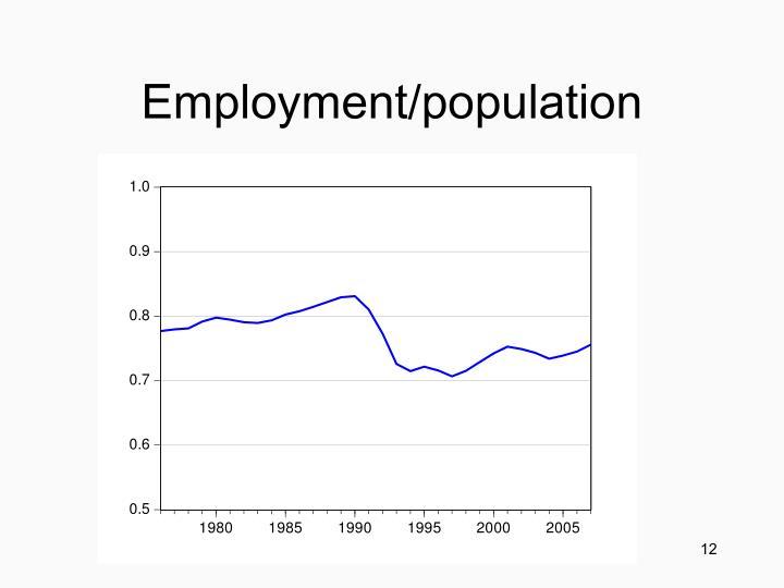 Employment/population