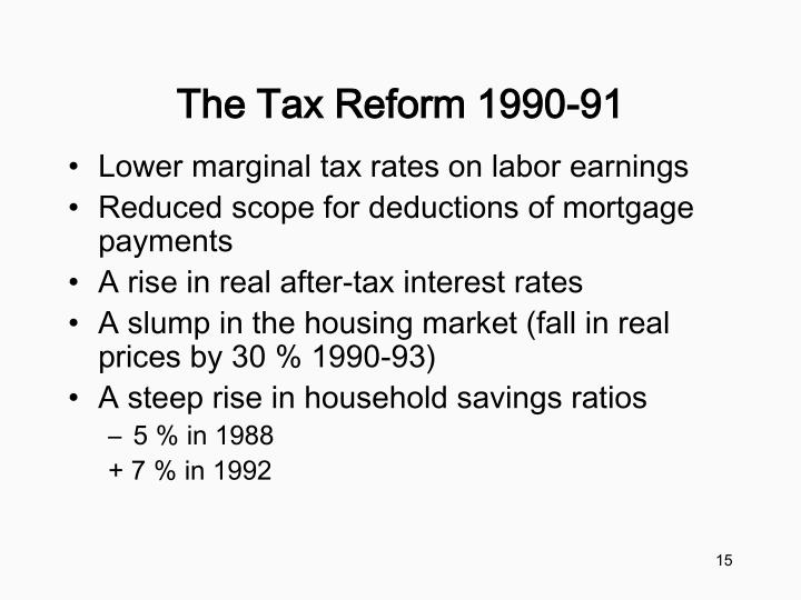 The Tax Reform 1990-91
