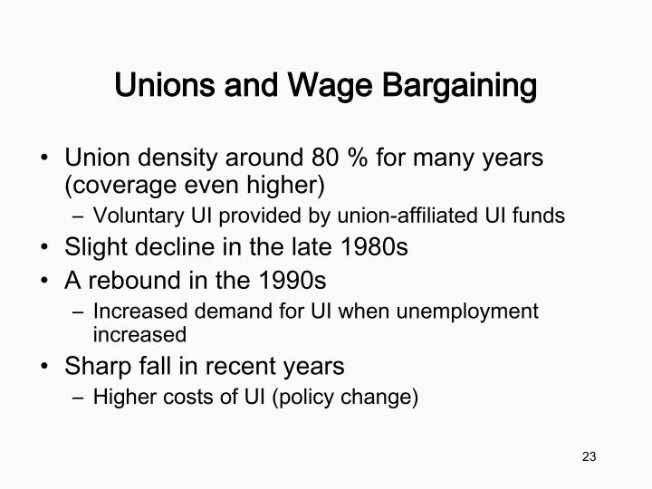 Unions and Wage Bargaining