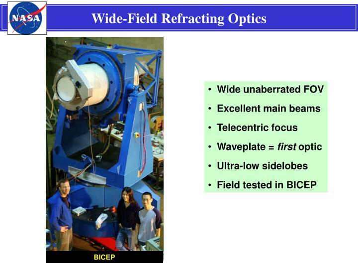 Wide-Field Refracting Optics
