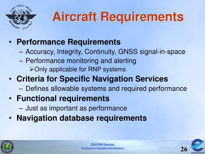Aircraft Requirements