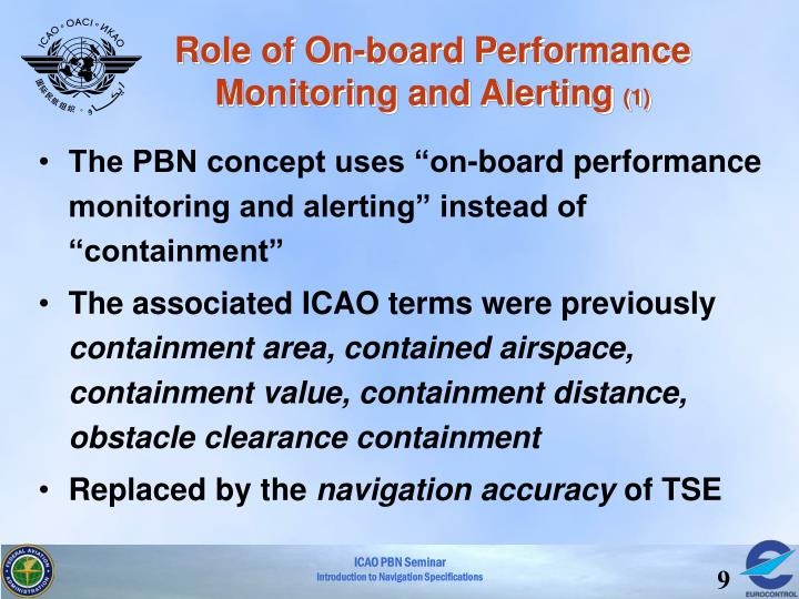 Role of On-board Performance Monitoring and Alerting