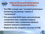 role of on board performance monitoring and alerting 1