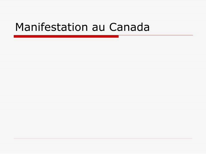 Manifestation au Canada