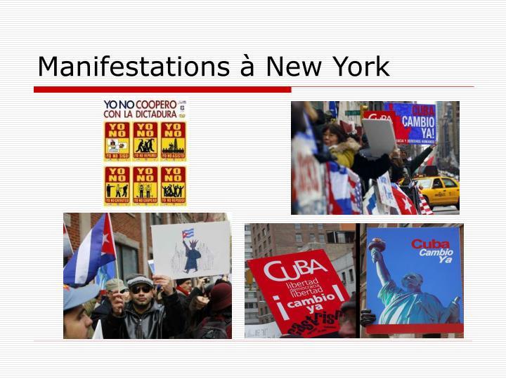 Manifestations à New York