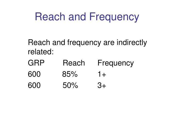 Reach and Frequency
