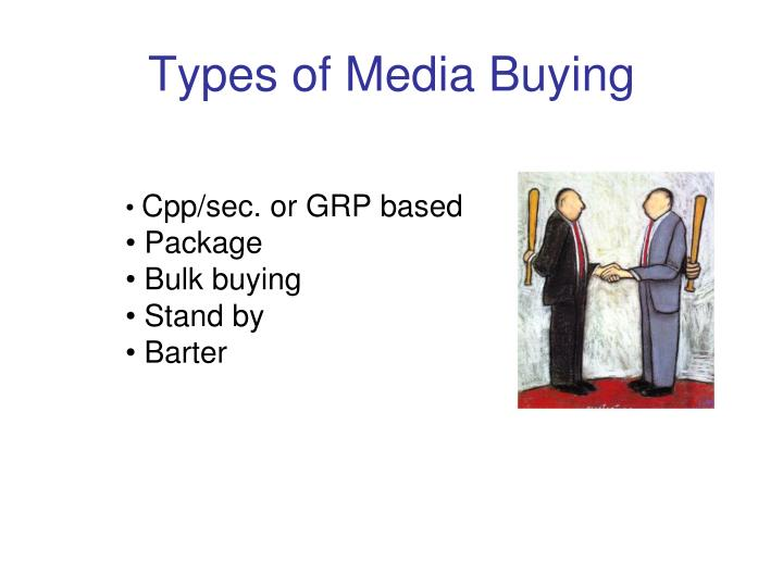 Types of Media Buying