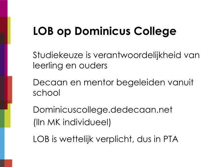 LOB op Dominicus College