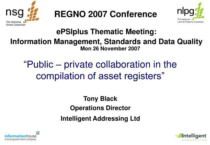 regno 2007 conference
