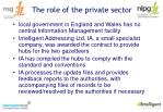 the role of the private sector