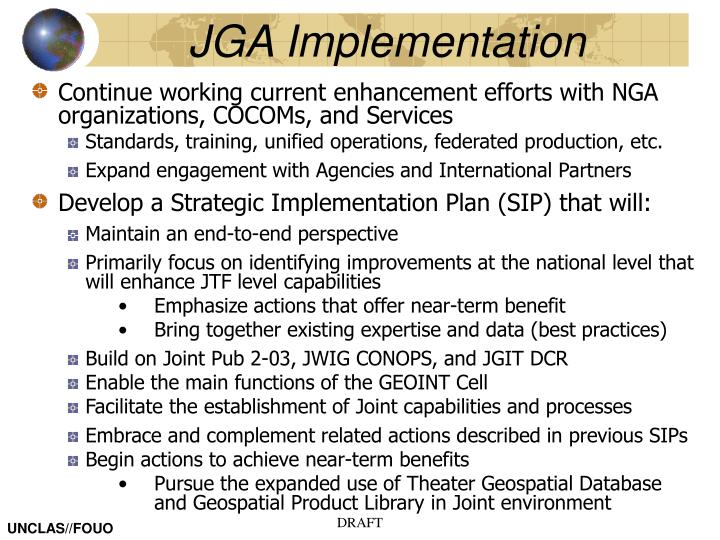 JGA Implementation