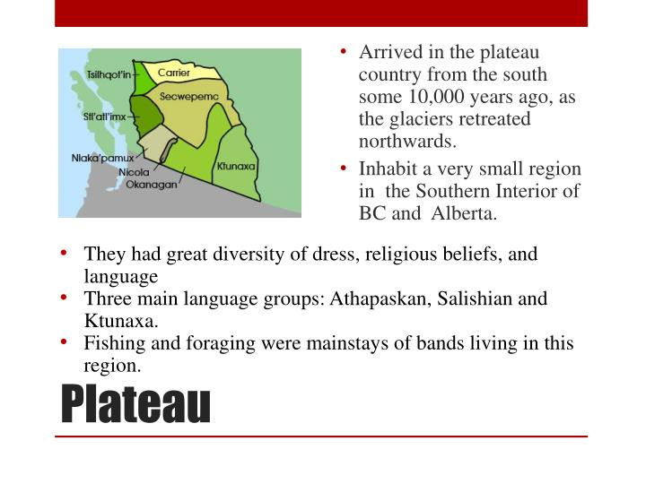 Arrived in the plateau country from the south some 10,000 years ago, as the glaciers retreated northwards.