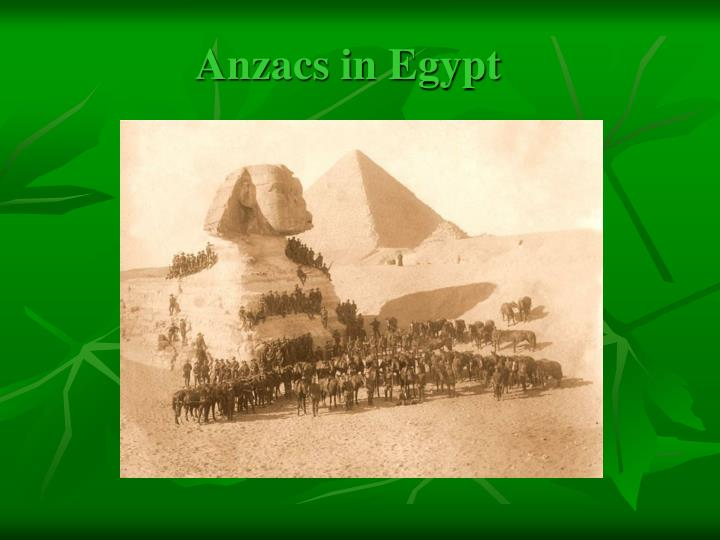 Anzacs in Egypt