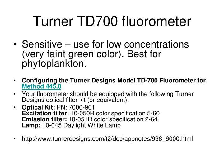 Turner TD700 fluorometer
