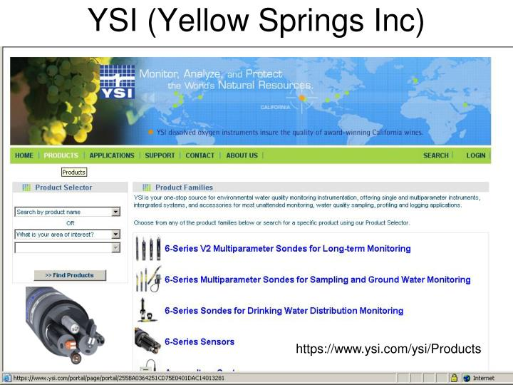 YSI (Yellow Springs Inc)