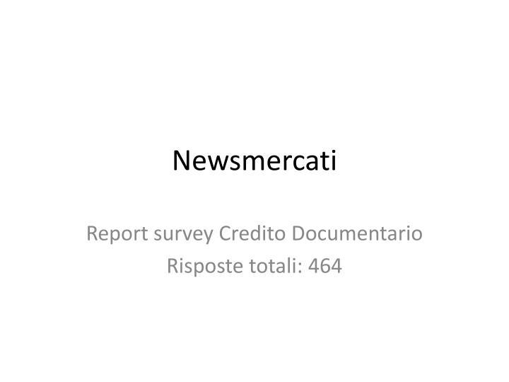 newsmercati
