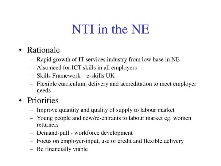 NTI in the NE