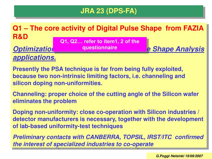 JRA 23 (DPS-FA)