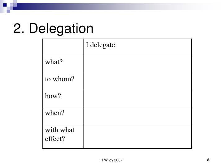 2. Delegation