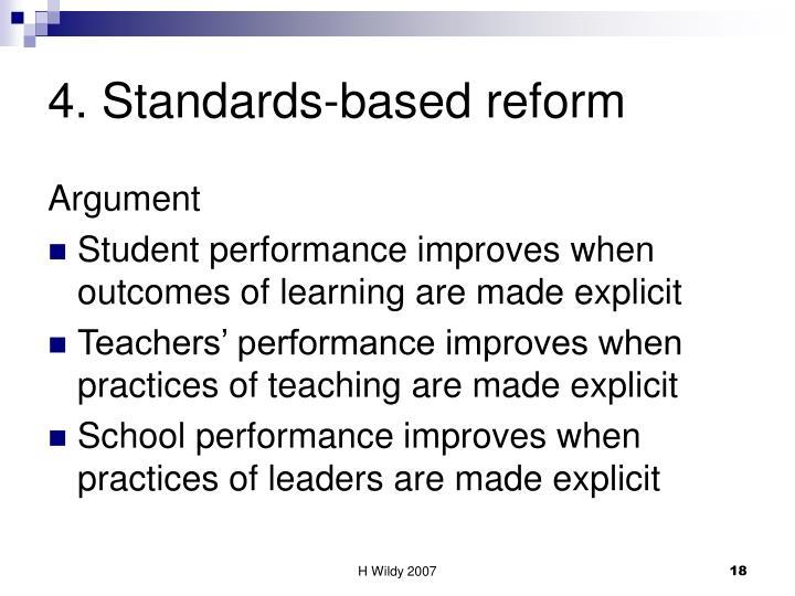 4. Standards-based reform