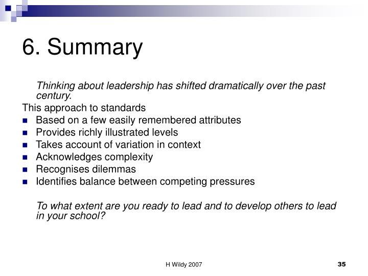 6. Summary
