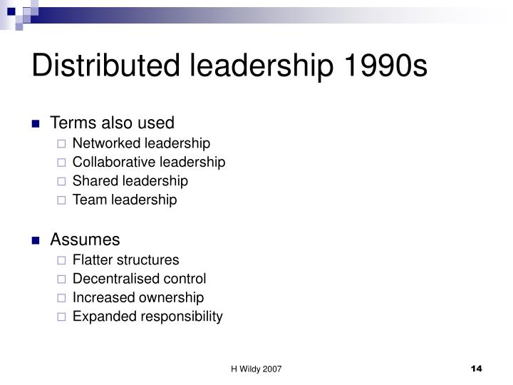 Distributed leadership 1990s