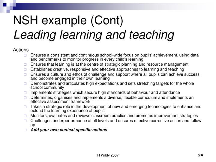 NSH example (Cont)