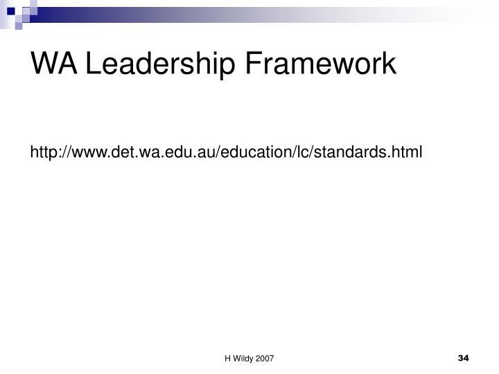 WA Leadership Framework