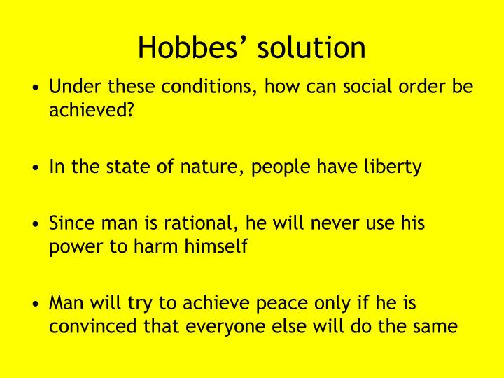 Hobbes' solution