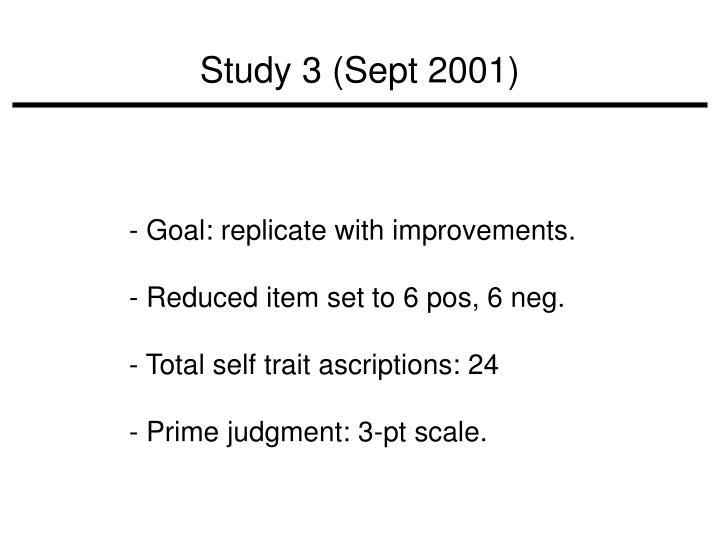 Study 3 (Sept 2001)