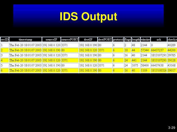 IDS Output