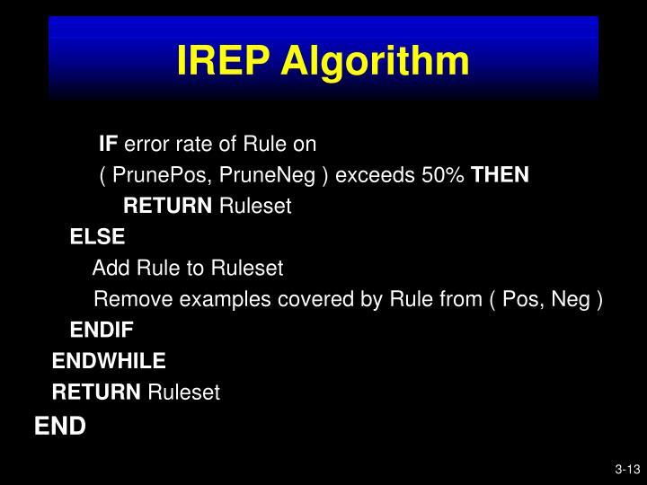 IREP Algorithm