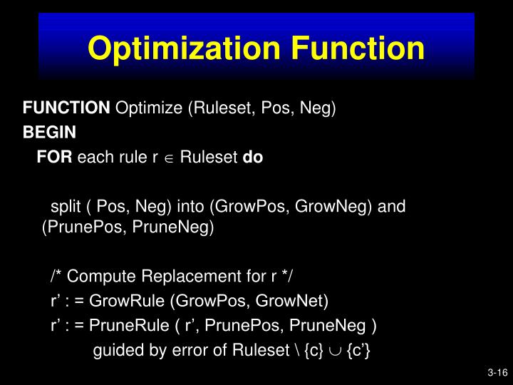 Optimization Function