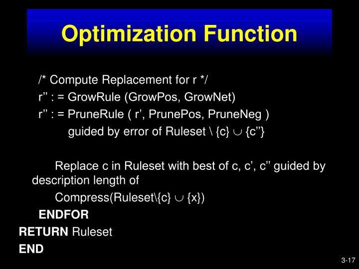 Optimization Function