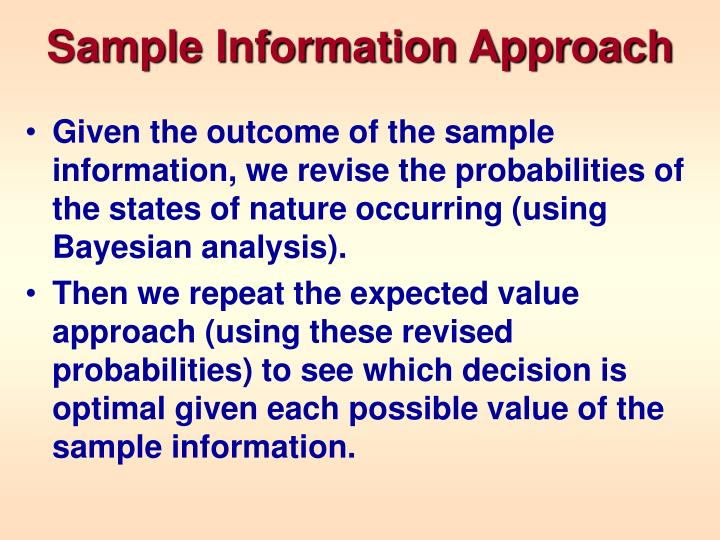 Sample Information Approach