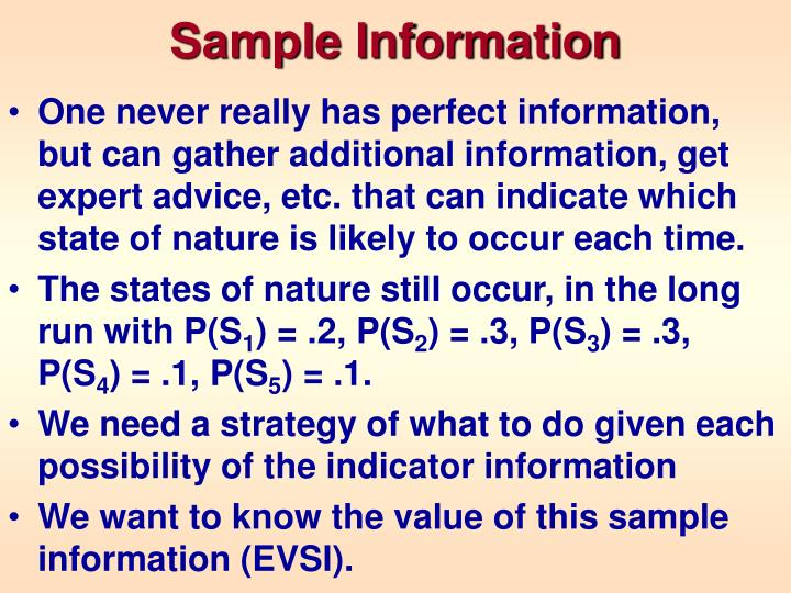 Sample Information