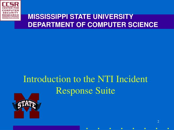 Introduction to the nti incident response suite