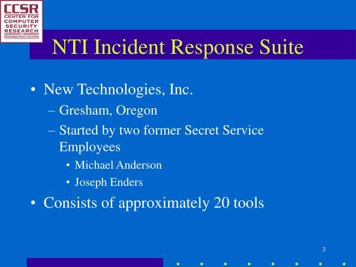 Nti incident response suite