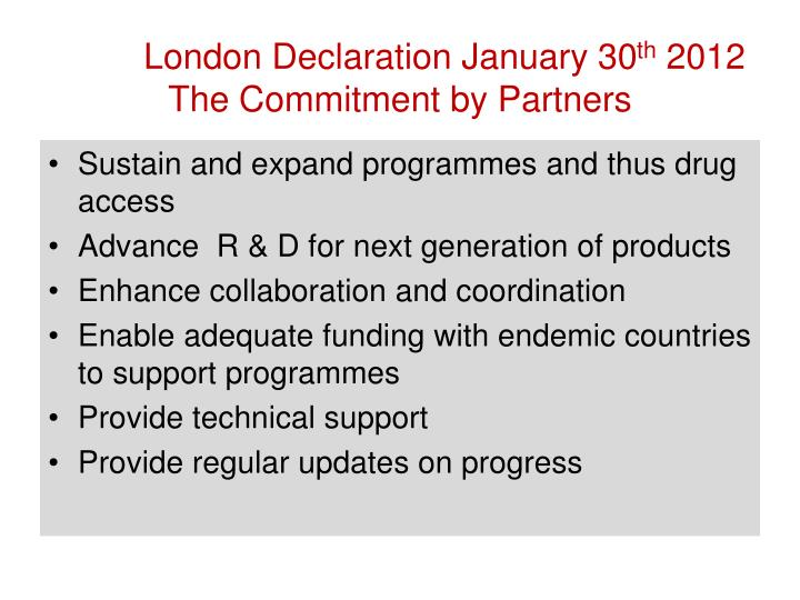 London Declaration January 30