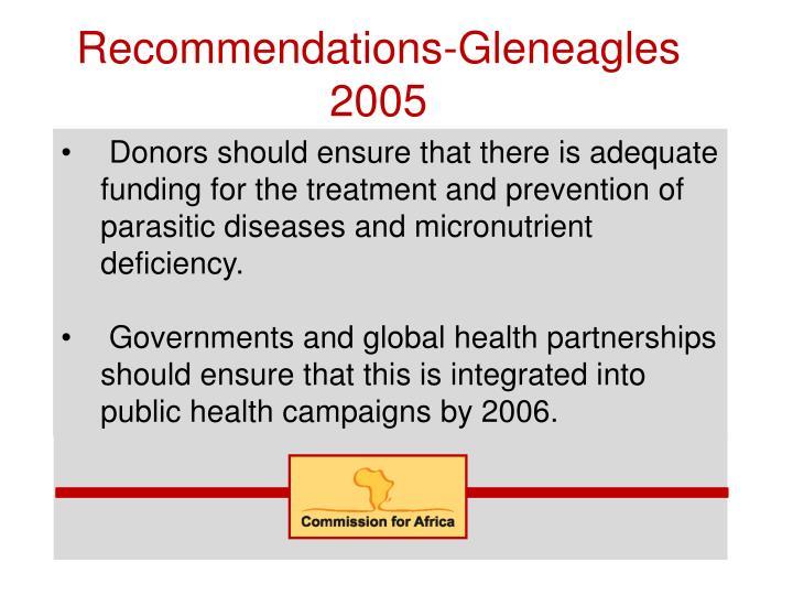 Recommendations-Gleneagles 2005