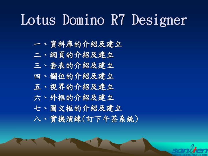 lotus domino r7 designer