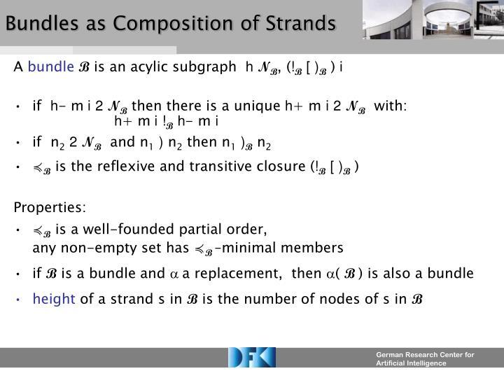 Bundles as Composition of Strands