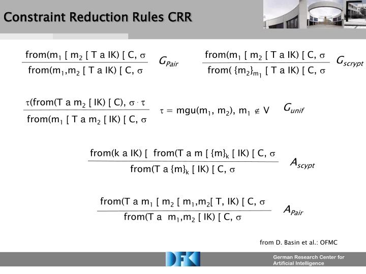 Constraint Reduction Rules CRR