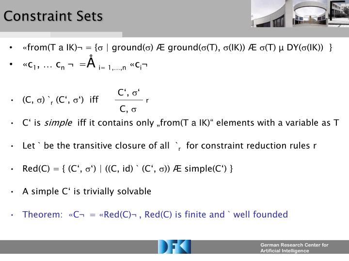 Constraint Sets