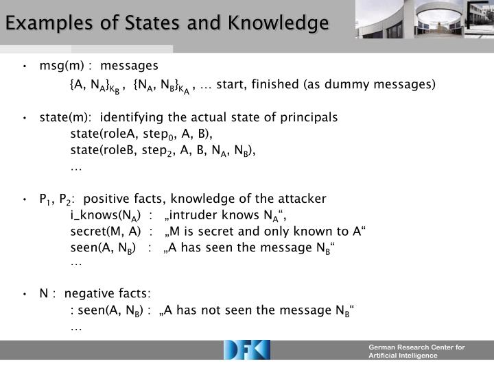 Examples of States and Knowledge