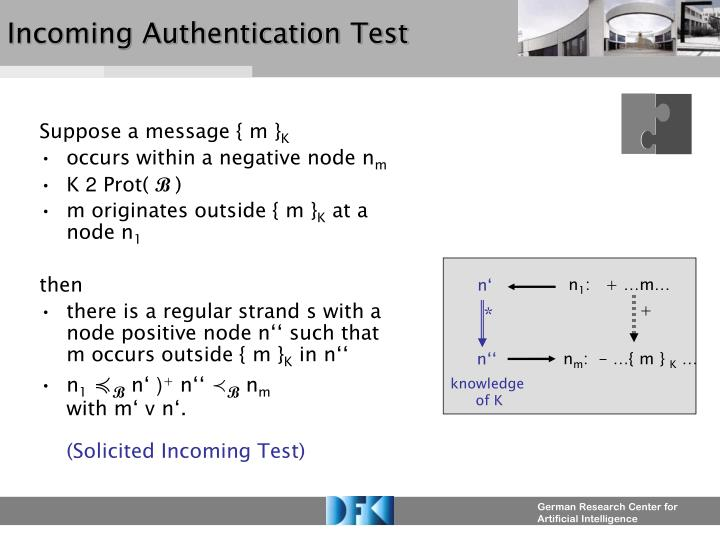 Incoming Authentication Test