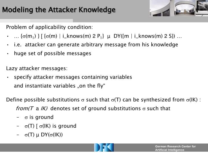Modeling the Attacker Knowledge